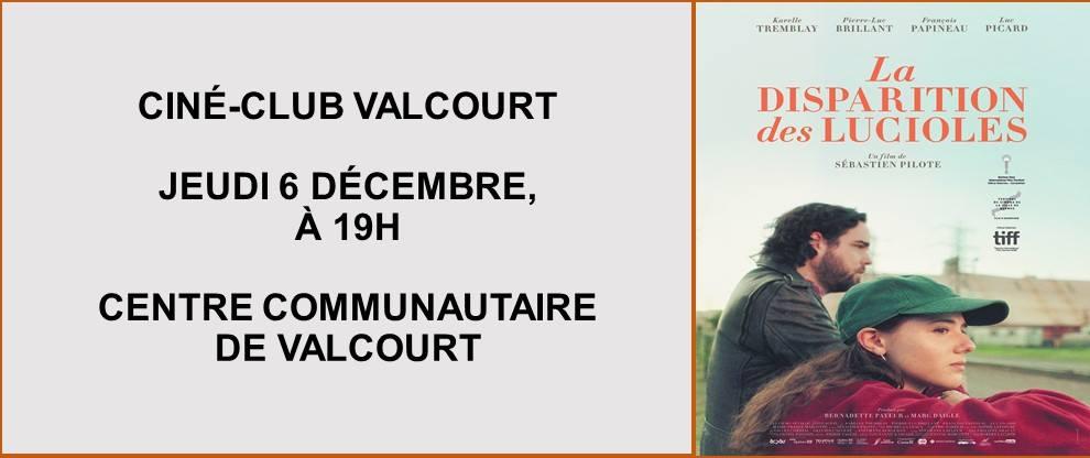 La disparition des lucioles au Ciné-Club de Valcourt
