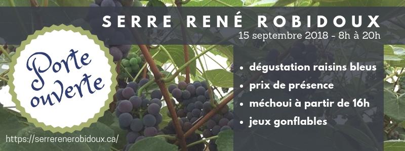 Porte Ouverte Serre René Robidoux